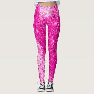 Bright Pink Ice Rave Leggings