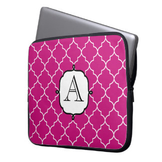 Bright Pink Monogram Laptop Sleeve