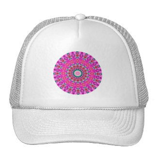 "Bright Pink ""Passions II""  Valentine's Day Mandala Cap"