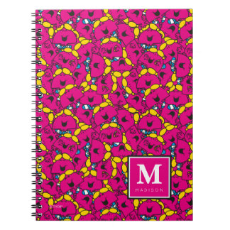 Bright Pink Pattern | Add Your Name Notebooks