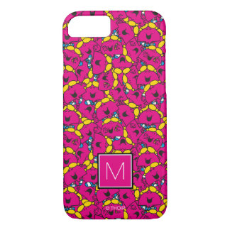 Bright Pink Pattern | Monogram iPhone 8/7 Case