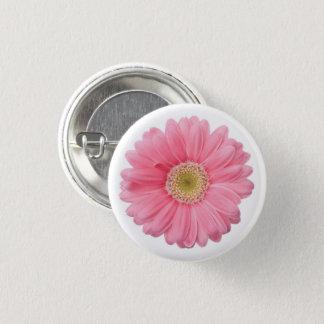 Bright Pink Photographic Daisy Flower 3 Cm Round Badge