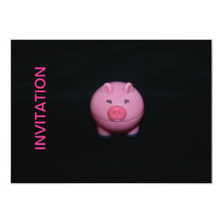 Bright Pink Pig INVITATION