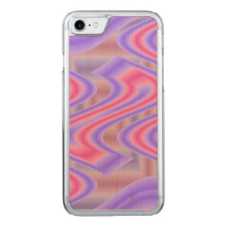 Bright Pink Purple mod abstract Carved iPhone 7 Case