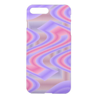 Bright Pink Purple mod abstract iPhone 7 Plus Case