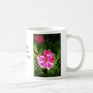 Bright Pink Roses Floral Photograph Coffee Mug