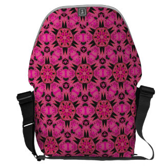 Bright Pink SpiderFangs Kaleidoscope Messenger Bag