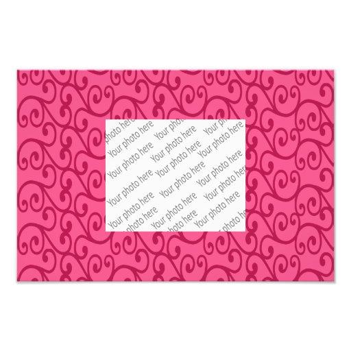 Bright Pink swirls Photographic Print