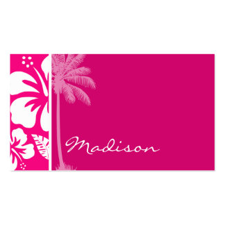Bright Pink Tropical Hibiscus Pack Of Standard Business Cards