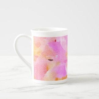 Bright pink watercolor floral  Bone China Mug
