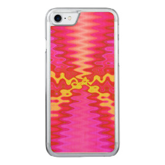 Bright pink yellow abstract carved iPhone 7 case