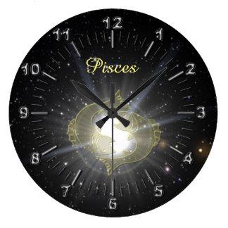 Bright Pisces Clock