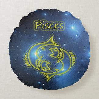 Bright Pisces Round Cushion