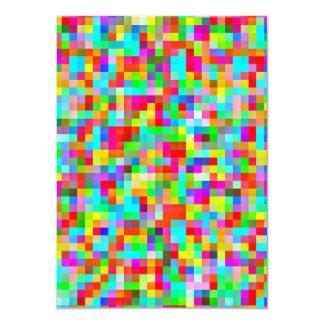 Bright Pixel Pattern Card 11 Cm X 16 Cm Invitation Card