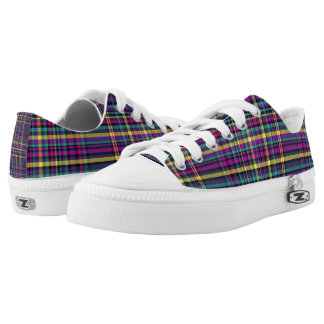 Bright plaid sneakers