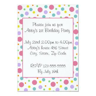Bright Polka Dot Invitation