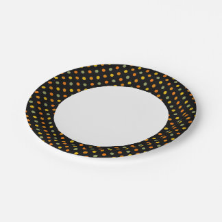 Bright Polka Dot Pattern 7 Inch Paper Plate