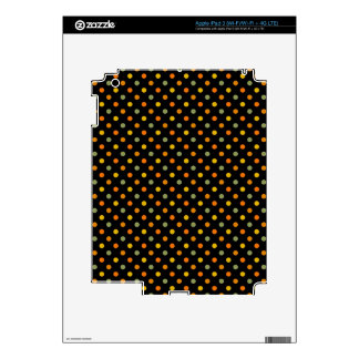Bright Polka Dot Pattern Skin For iPad 3