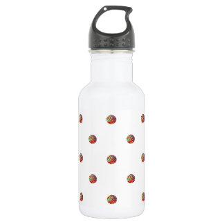 Bright Polka Dots Pattern Water Bottle
