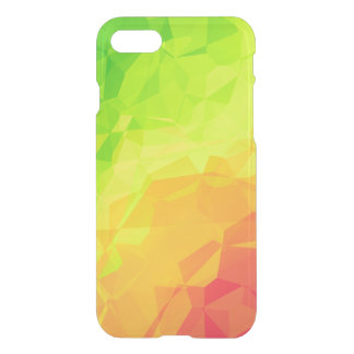 Bright Polygon Gradient Clear iPhone Case