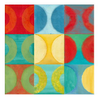 Bright Pop Art with Circles and Squares