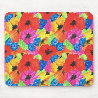 Bright Poppies and Cornflowers Mousepad