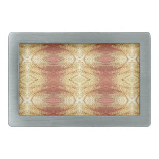 Bright positive yellow dominate pattern. rectangular belt buckle