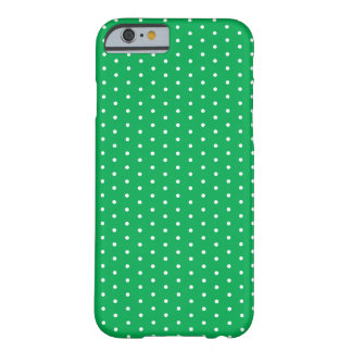 Bright Preppy Green Polka Dot iPhone 6 Barely There iPhone 6 Case