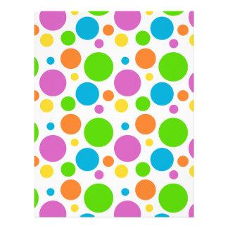 Bright Primary Polka Dots 21.5 Cm X 28 Cm Flyer