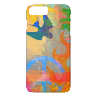 bright psychedelic graphic iPhone case