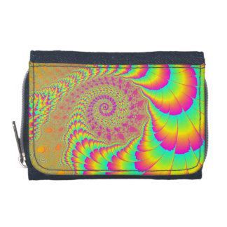 Bright Psychedelic Infinite Spiral Fractal Art Wallet
