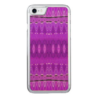 Bright Purple Abstract Art Carved iPhone 8/7 Case