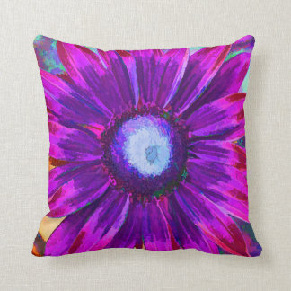Bright Purple Blue Flower Petal Spring Pillow Cushions