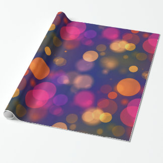 Bright Purple, Blue, Pink Bokeh Background Pattern Wrapping Paper