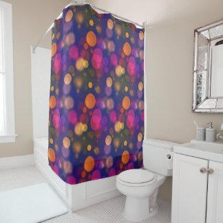 Bright Purple, Blue, Pink Bokeh Lights Pattern Shower Curtain