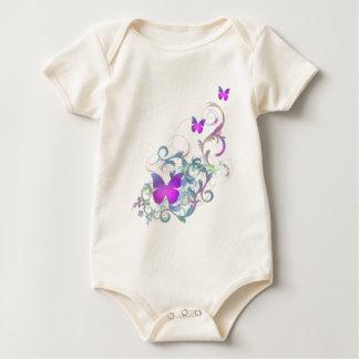 Bright Purple Butterfly Baby Bodysuit