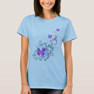 Bright Purple Butterfly T-Shirt