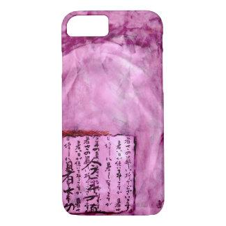 Bright Purple Distressed Asian Script Watercolor iPhone 8/7 Case