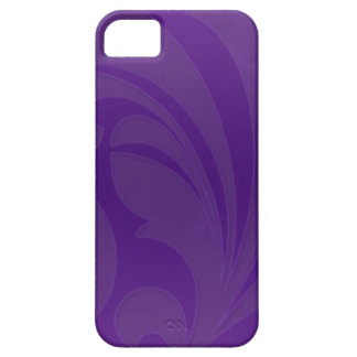 Bright Purple Flourish Barely There iPhone 5 Case