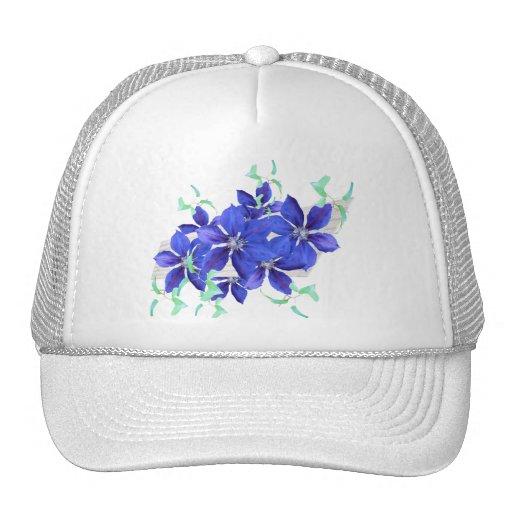 Bright Purple Flowers Celebration Cap - Clematis Hats