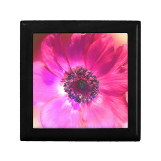 Bright Purple Fuchsia Flower Art Small Square Gift Box