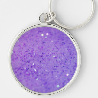 Bright Purple Glitter - Shiny, Sparkles Keychains