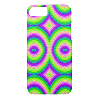 Bright Purple Green Abstract iPhone 8/7 Case