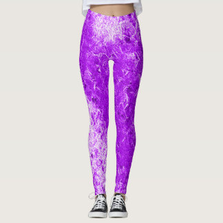 Bright Purple Ice Rave Leggings