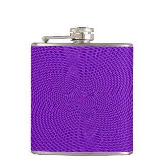 Bright Purple Mod Design Hip Flask