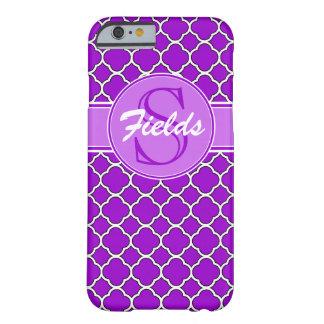 Bright Purple Quatrefoil Monogram iPhone 6 Case