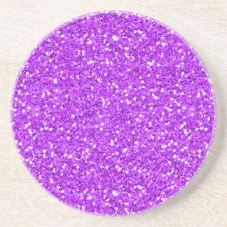 Bright Purple Shimmer Glitter Coaster
