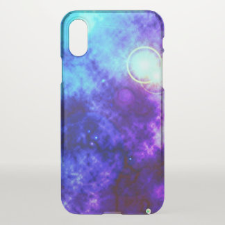 Bright Purple Space Diffuse Nebula and Supernova iPhone X Case
