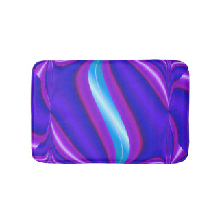Bright purple turquoise Mod design Bath Mat
