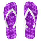 Bright purple white mod pattern thongs